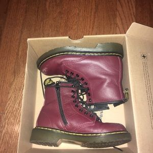 Dr. Martens Delaney Boots Cherry Red